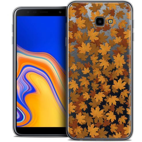 "Extra Slim Crystal Gel Samsung Galaxy J4 Plus J4+ (6"") Case Autumn 16 Feuilles"