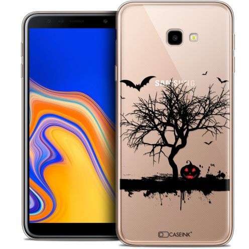 "Extra Slim Crystal Gel Samsung Galaxy J4 Plus J4+ (6"") Case Halloween Devil's Tree"