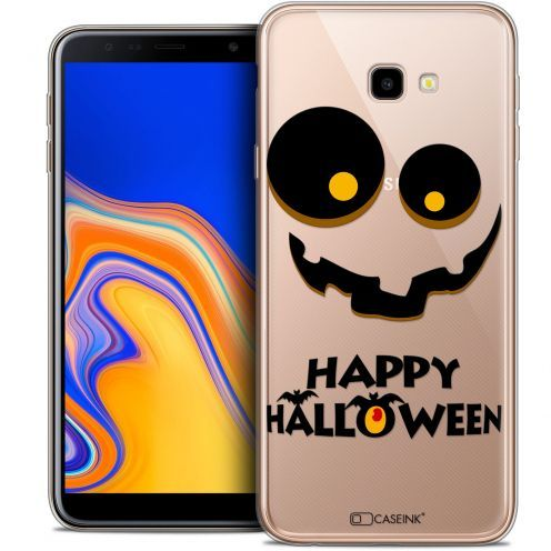"Extra Slim Crystal Gel Samsung Galaxy J4 Plus J4+ (6"") Case Halloween Happy"