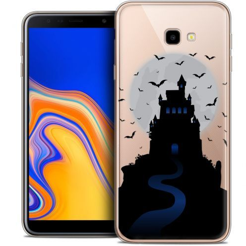 "Extra Slim Crystal Gel Samsung Galaxy J4 Plus J4+ (6"") Case Halloween Castle Nightmare"