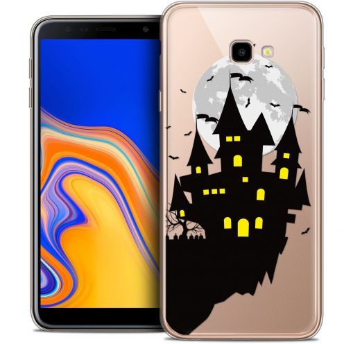 "Extra Slim Crystal Gel Samsung Galaxy J4 Plus J4+ (6"") Case Halloween Castle Dream"