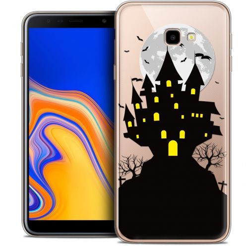 "Extra Slim Crystal Gel Samsung Galaxy J4 Plus J4+ (6"") Case Halloween Castle Scream"