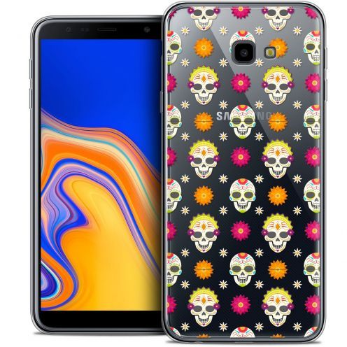 "Extra Slim Crystal Gel Samsung Galaxy J4 Plus J4+ (6"") Case Halloween Skull Halloween"