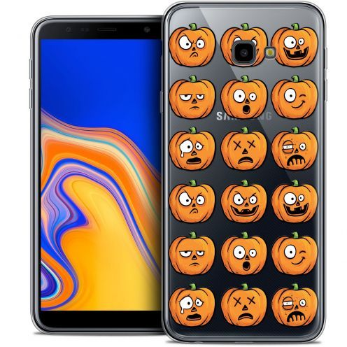 "Extra Slim Crystal Gel Samsung Galaxy J4 Plus J4+ (6"") Case Halloween Cartoon Citrouille"