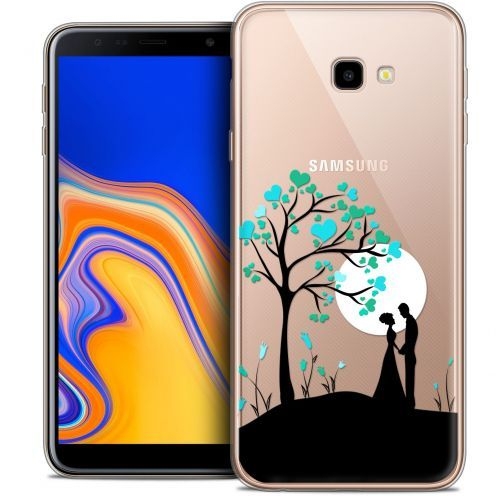 "Extra Slim Crystal Gel Samsung Galaxy J4 Plus J4+ (6"") Case Love Sous l'arbre"