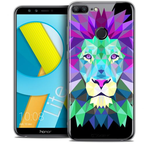 "Extra Slim Crystal Gel Huawei Honor 9 LITE (5.7"") Case Polygon Animals Lion"