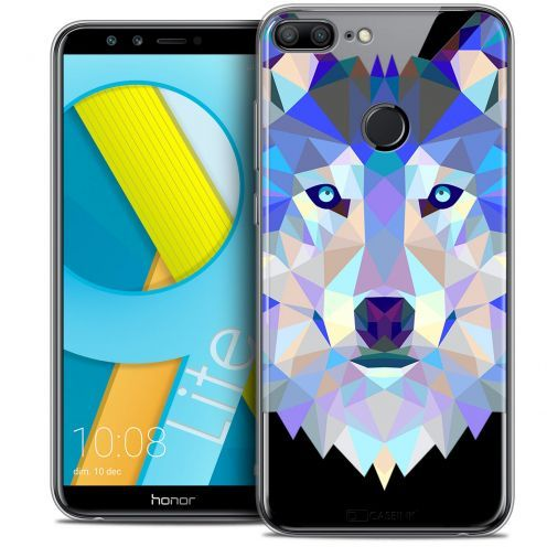 "Extra Slim Crystal Gel Huawei Honor 9 LITE (5.7"") Case Polygon Animals Wolf"