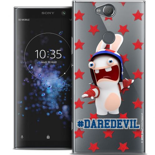 "Crystal Gel Sony Xperia XA2 PLUS (6"") Case Lapins Crétins™ Dare Devil"
