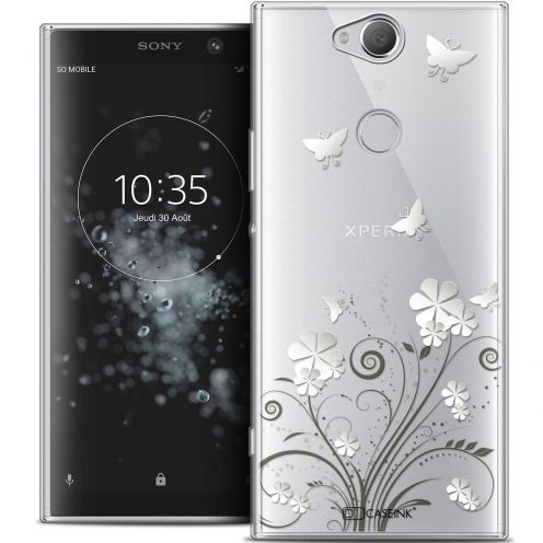 """Extra Slim Crystal Gel Sony Xperia XA2 PLUS (6"""") Case Summer Papillons"""