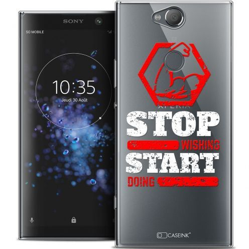 """Extra Slim Crystal Gel Sony Xperia XA2 PLUS (6"""") Case Quote Start Doing"""