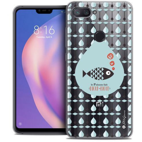 "Extra Slim Crystal Gel Xiaomi Mi 8 LITE (6.26"") Case Petits Grains® Le Poisson"