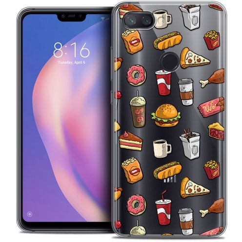 "Extra Slim Crystal Gel Xiaomi Mi 8 LITE (6.26"") Case Foodie Fast Food"