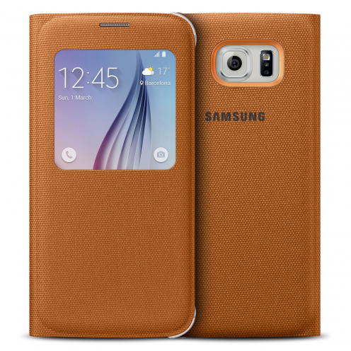 Samsung Original S View Cover Fabric for Galaxy S6 - Orange