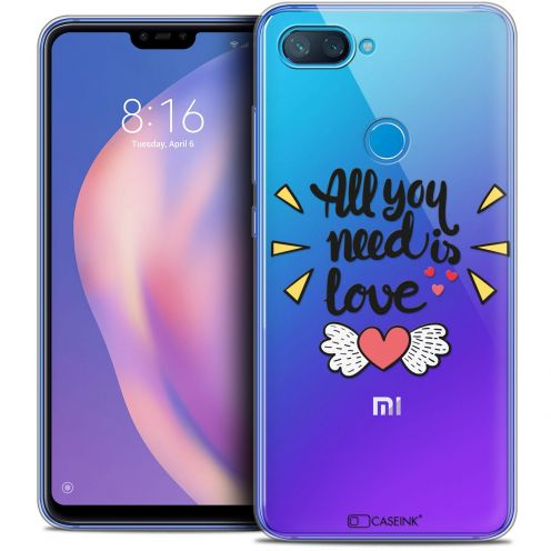 "Extra Slim Crystal Gel Xiaomi Mi 8 LITE (6.26"") Case Love All U Need Is"