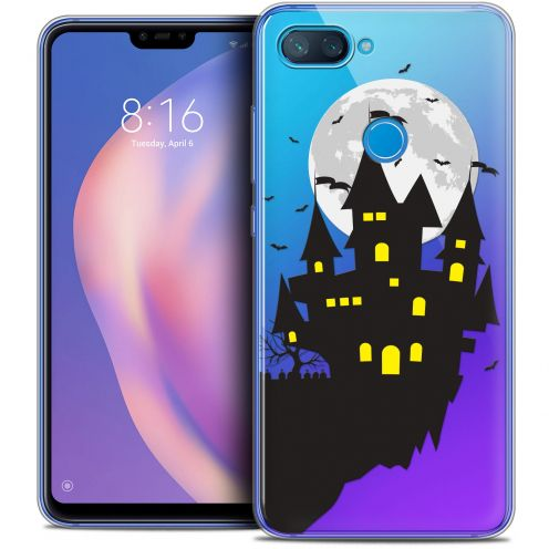 "Extra Slim Crystal Gel Xiaomi Mi 8 LITE (6.26"") Case Halloween Castle Dream"