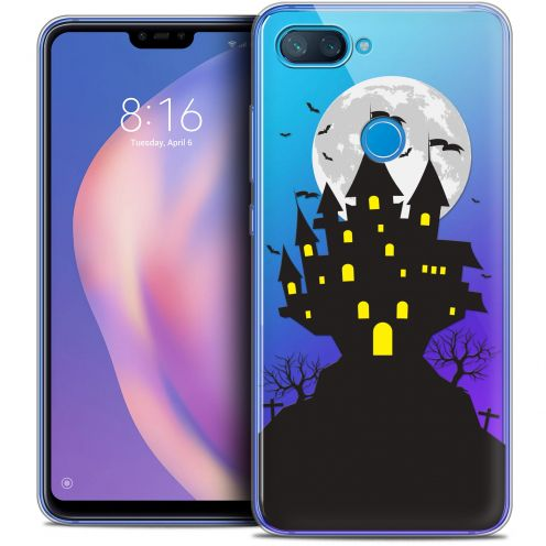 "Extra Slim Crystal Gel Xiaomi Mi 8 LITE (6.26"") Case Halloween Castle Scream"