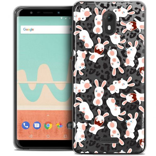 """Crystal Gel Wiko View GO (5.7"""") Case Lapins Crétins™ Leopard Pattern"""