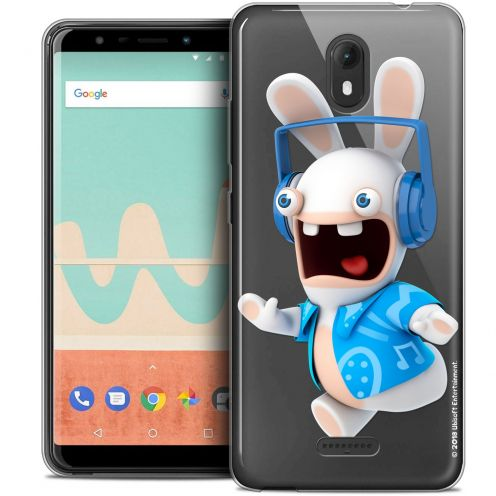 """Crystal Gel Wiko View GO (5.7"""") Case Lapins Crétins™ Techno Lapin"""