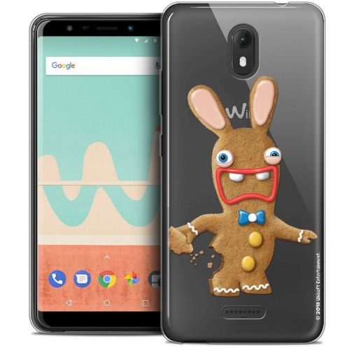 """Crystal Gel Wiko View GO (5.7"""") Case Lapins Crétins™ Cookie"""