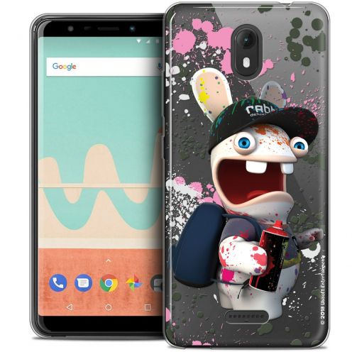 """Crystal Gel Wiko View GO (5.7"""") Case Lapins Crétins™ Painter"""