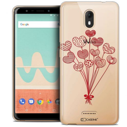 "Extra Slim Crystal Gel Wiko View GO (5.7"") Case Love Ballons d'amour"