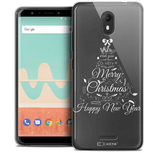 "Extra Slim Crystal Gel Wiko View GO (5.7"") Case Noël 2017 Calligraphie"