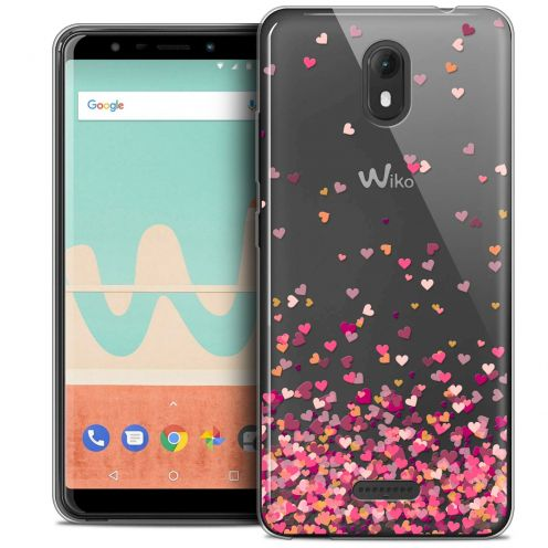 "Extra Slim Crystal Gel Wiko View GO (5.7"") Case Sweetie Heart Flakes"
