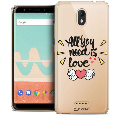 "Extra Slim Crystal Gel Wiko View GO (5.7"") Case Love All U Need Is"
