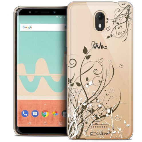 "Extra Slim Crystal Gel Wiko View GO (5.7"") Case Love Hearts Flowers"