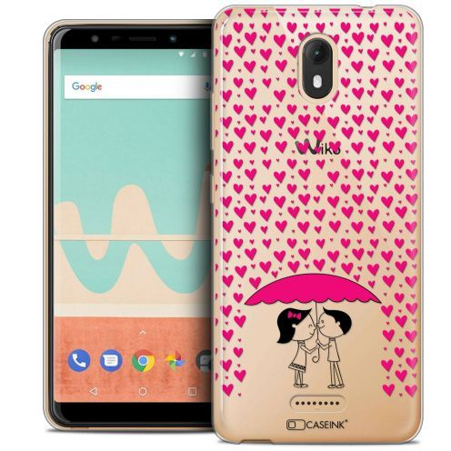 "Extra Slim Crystal Gel Wiko View GO (5.7"") Case Love Pluie d'Amour"