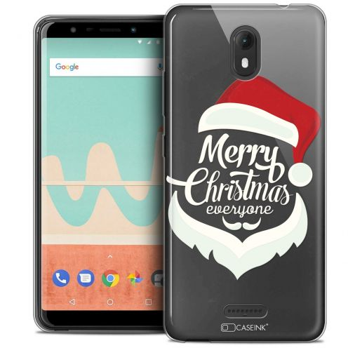 "Extra Slim Crystal Gel Wiko View GO (5.7"") Case Noël 2017 Merry Everyone"