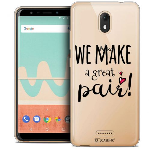 "Extra Slim Crystal Gel Wiko View GO (5.7"") Case Love We Make Great Pair"
