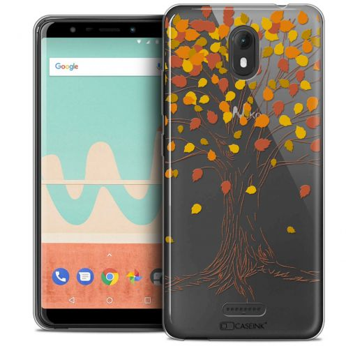 "Extra Slim Crystal Gel Wiko View GO (5.7"") Case Autumn 16 Tree"