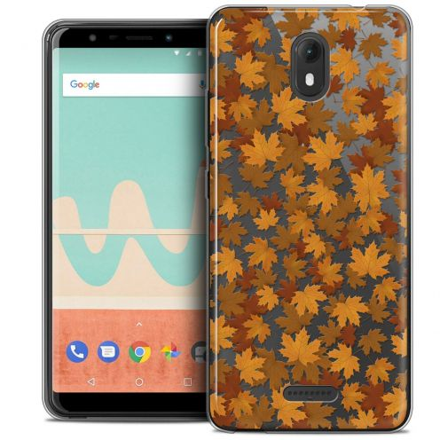 "Extra Slim Crystal Gel Wiko View GO (5.7"") Case Autumn 16 Feuilles"