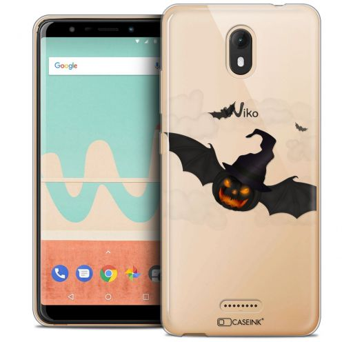 "Extra Slim Crystal Gel Wiko View GO (5.7"") Case Halloween Chauve Citrouille"