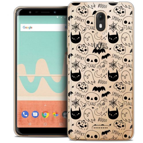 "Extra Slim Crystal Gel Wiko View GO (5.7"") Case Halloween Spooky"