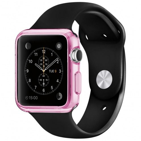 Clear Frame Extra Slim soft Pink case for Apple Watch 42mm