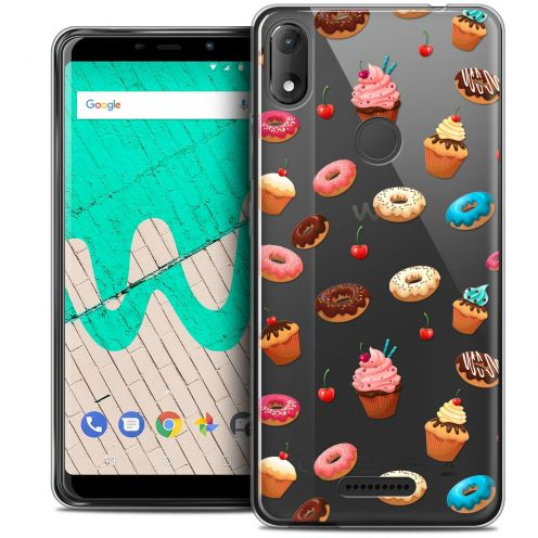 "Extra Slim Crystal Gel Wiko View MAX (5.7"") Case Foodie Donuts"