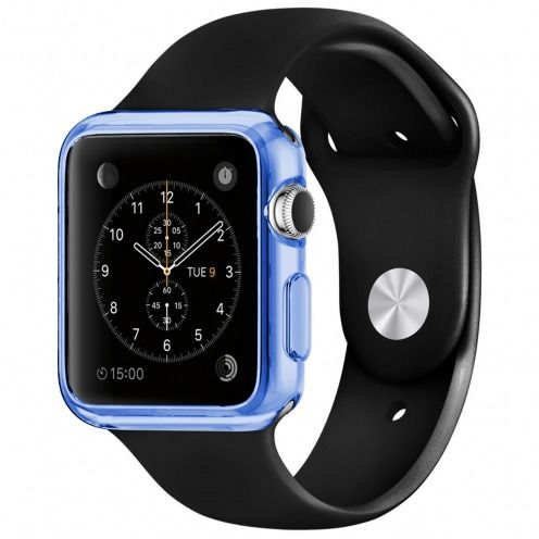 Clear Frame Extra Slim soft Blue case for Apple Watch 38mm