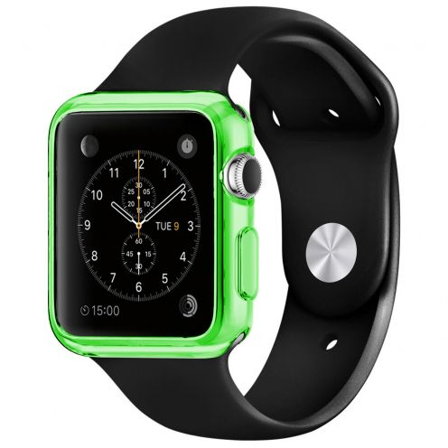 Clear Frame Extra Slim soft Green case for Apple Watch 38mm