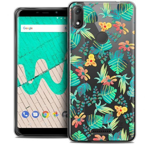 "Extra Slim Crystal Gel Wiko View MAX (5.7"") Case Spring Tropical"