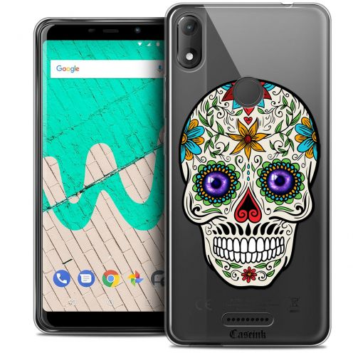 "Extra Slim Crystal Gel Wiko View MAX (5.7"") Case Skull Maria's Flower"