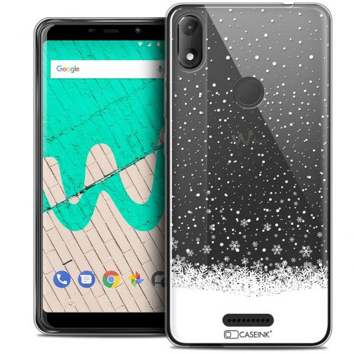 "Extra Slim Crystal Gel Wiko View MAX (5.7"") Case Noël 2017 Flocons de Neige"