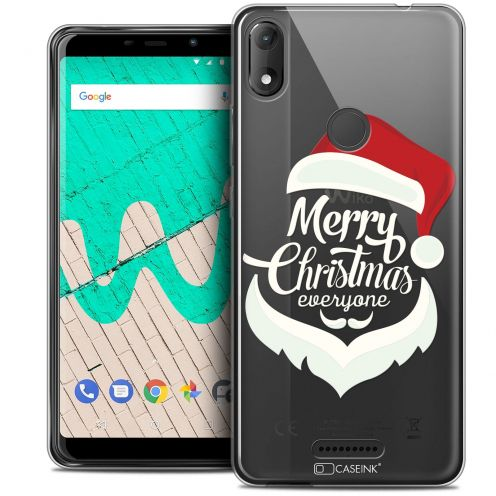"Extra Slim Crystal Gel Wiko View MAX (5.7"") Case Noël 2017 Merry Everyone"