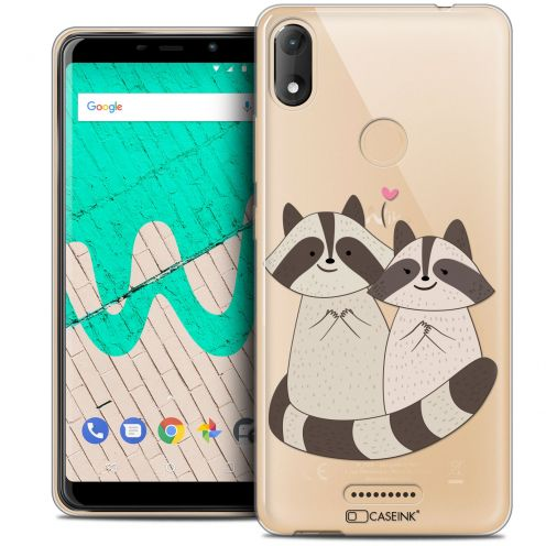 "Extra Slim Crystal Gel Wiko View MAX (5.7"") Case Sweetie Racoon Love"