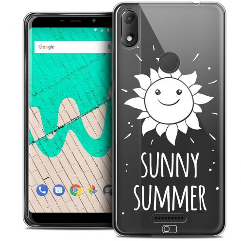 "Extra Slim Crystal Gel Wiko View MAX (5.7"") Case Summer Sunny Summer"