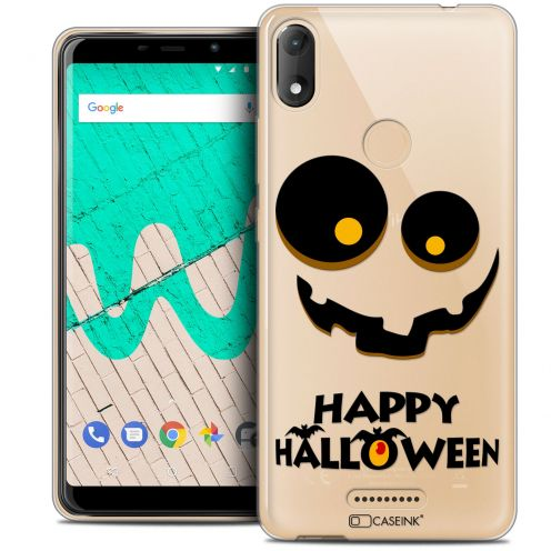 "Extra Slim Crystal Gel Wiko View MAX (5.7"") Case Halloween Happy"