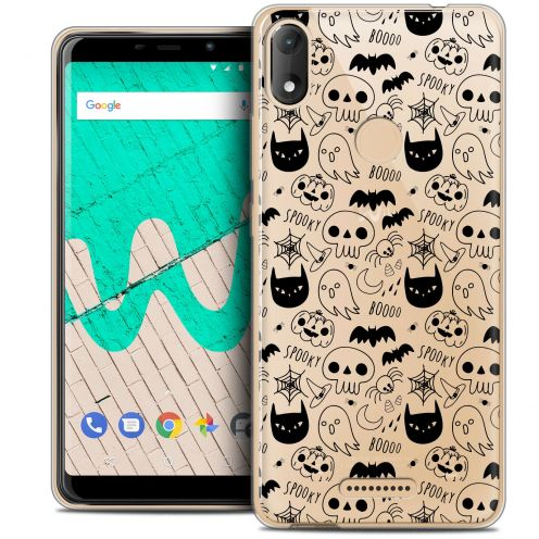 "Extra Slim Crystal Gel Wiko View MAX (5.7"") Case Halloween Spooky"