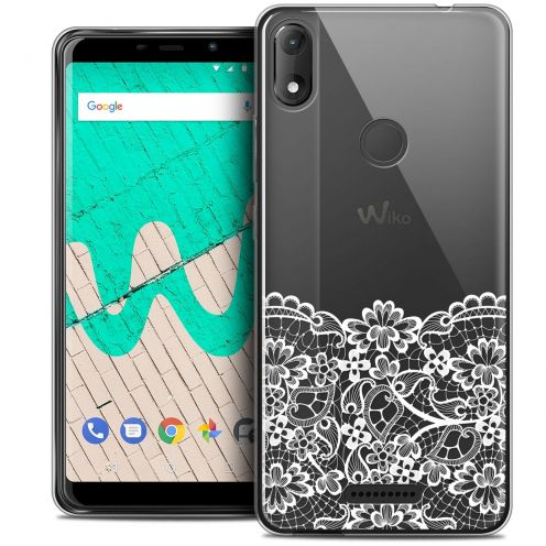 "Extra Slim Crystal Gel Wiko View MAX (5.7"") Case Spring Bas dentelle"