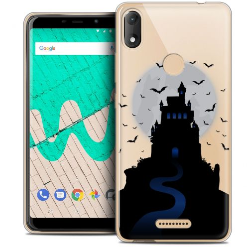 "Extra Slim Crystal Gel Wiko View MAX (5.7"") Case Halloween Castle Nightmare"